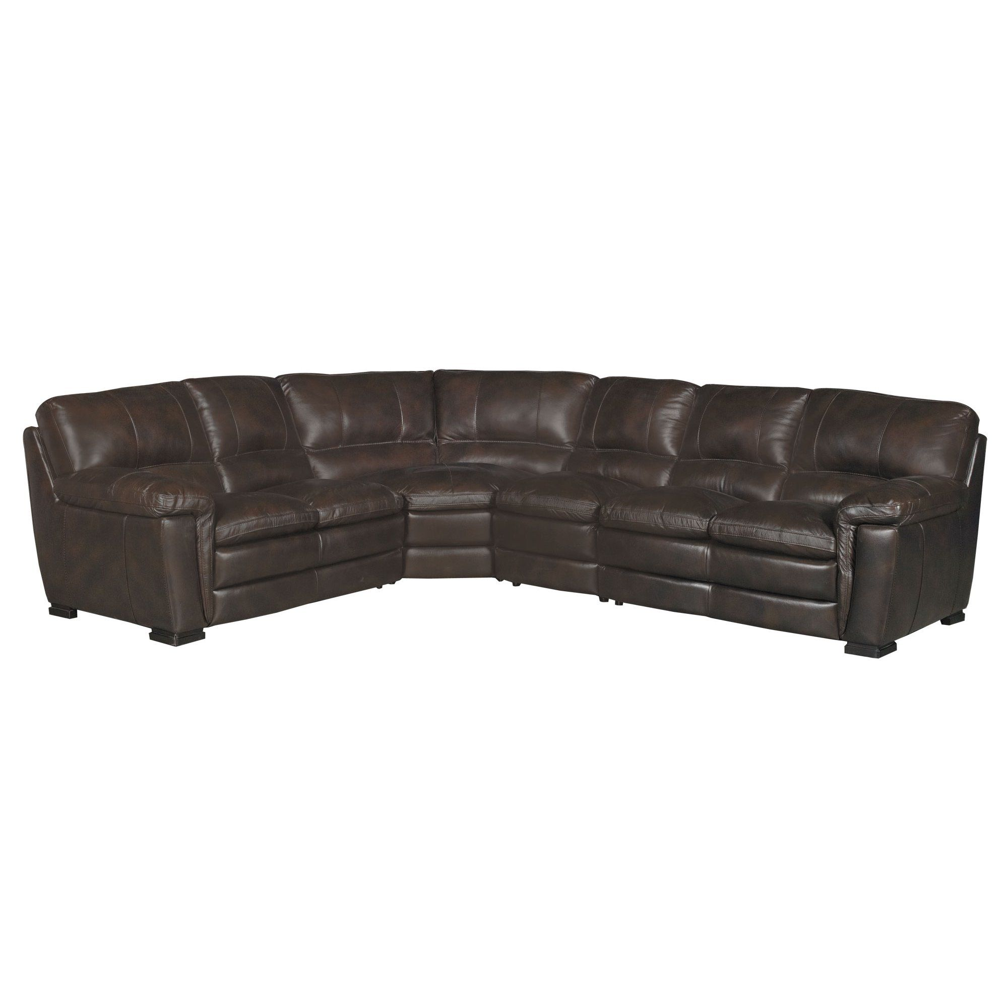 Contemporary 4 Piece Brown Leather Sectional Sofa Tanner Leather Sectional Leather Couch Sectional Leather Sectional Sofas