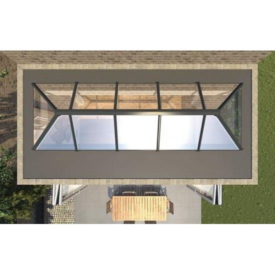 X 1m skypod roof lantern roof lantern rear for Kitchen design 4m x 2m