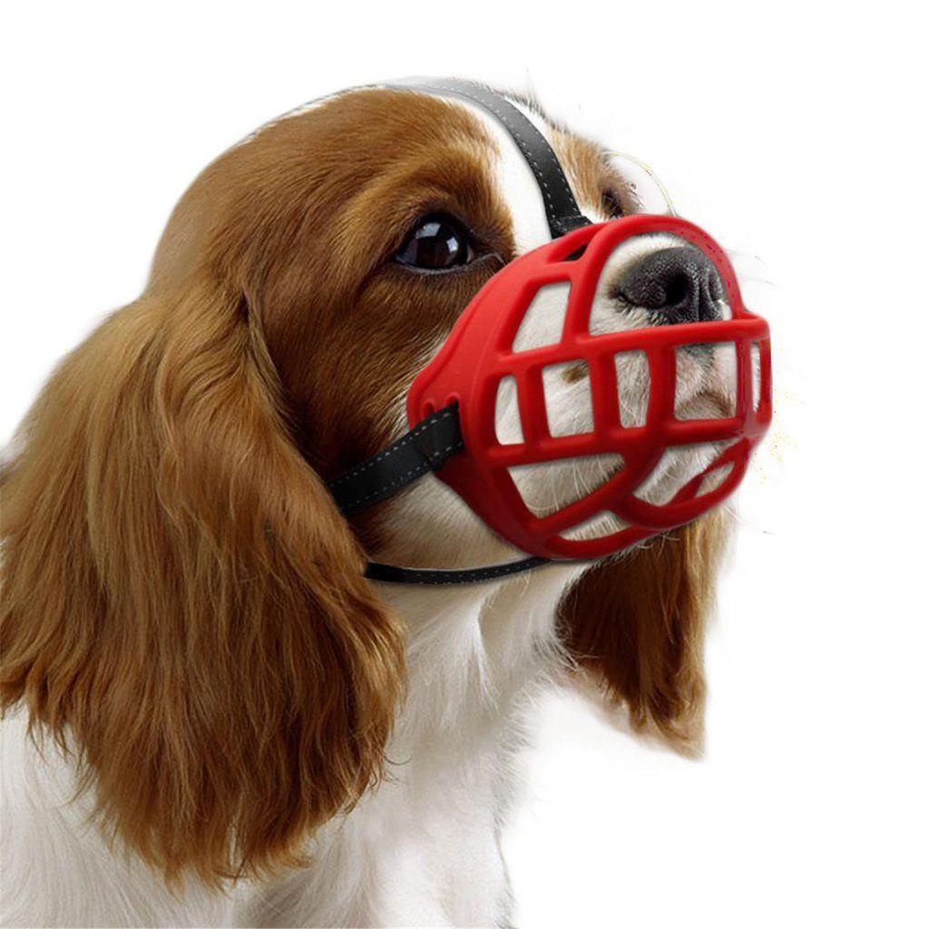 Fundodo Soft Rubber Dog Training Muzzle Adjustable Straps Silicon