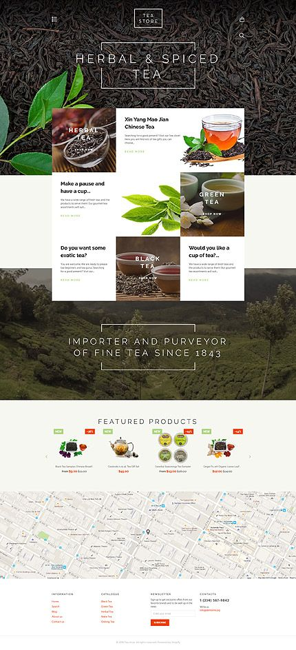 All Kinds Of Tea Online Store Shopify Template Themes Business Responsive Webshop Shopifythemes Tea Store Ecommerce Web Design Shopify Theme