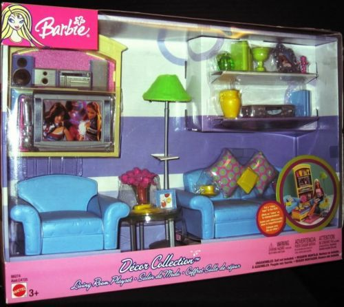 barbie living room decor collection living room playset new 10758