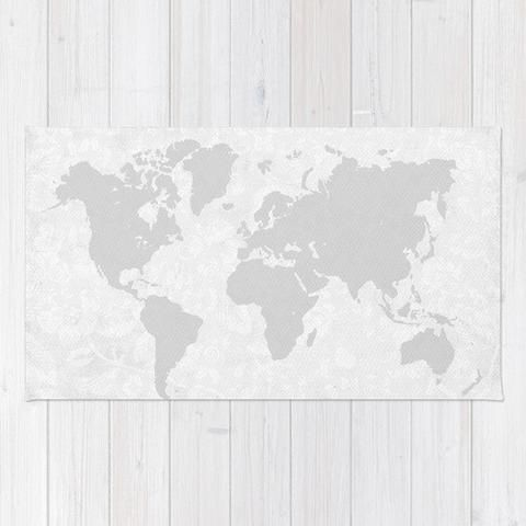 Intricate world map area rug world products and area rugs intricate world map area rug gumiabroncs Images