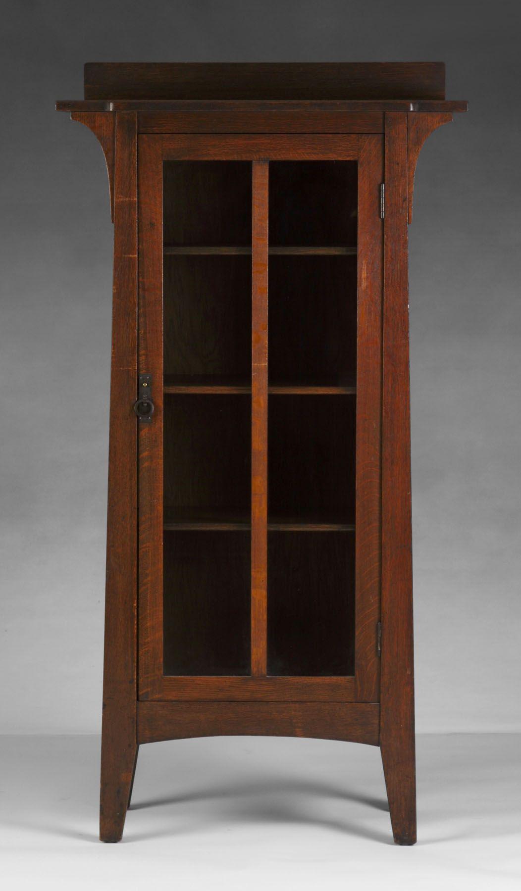 Limberts Oak 1 Door Cabinet Cottone Auctions Craftsman Style Furniture Art Nouveau Furniture Mission Furniture