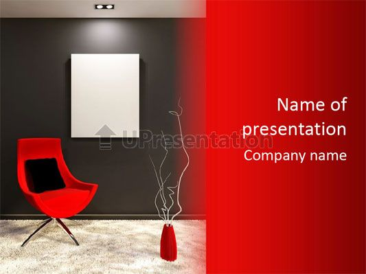 presentation furniture interior powerpoint template | free, Presentation templates