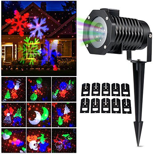 Christmas Laser Light Newest Version Ucharge Snowflake Laser Christmas Lights Outdoor Snowflake Lights Halloween Lights Decorations