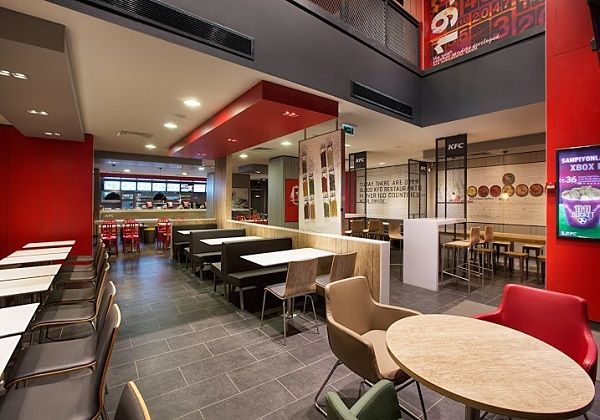 Design showcase new kfc format for turkey retail