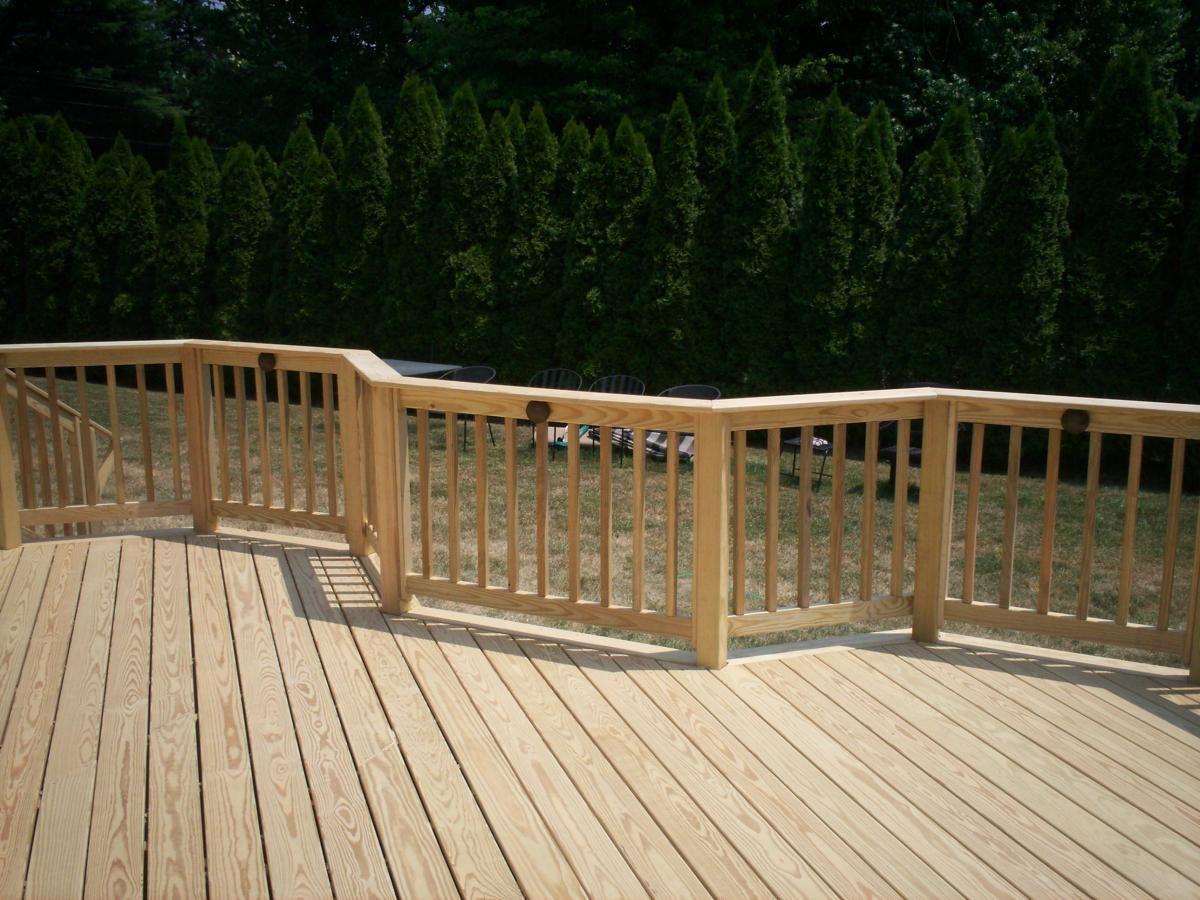 Pressure Treated Wood Deck Railing Visit more