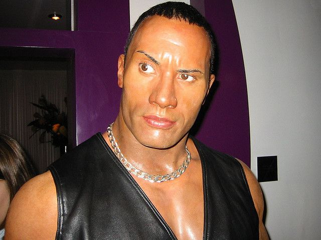 """Dwayne """"The Rock"""" Johnson    Many thanks to the team of Madame Tussaud´s for showing this photo in the  Visitors' Photos section of their official homepage: www.madametussauds.com/London/PlanYourVisit/VisitorsPhoto...    Map it: Street 