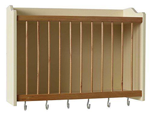 buttermilk plate rack holder kitchen cupboard storage organizer cabinet english plate wall. Black Bedroom Furniture Sets. Home Design Ideas