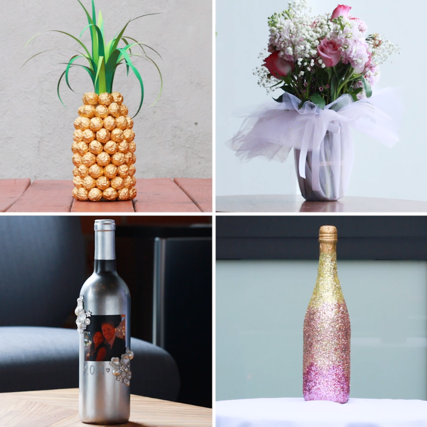 4 Unique Ways to Gift a Bottle DIY gift champagne is part of Diy gifts -