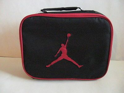 NEW NIKE JORDAN INSULATED LUNCH TOTE BAG BOX STORAGE Black/Red 9A1455-391 $16.99