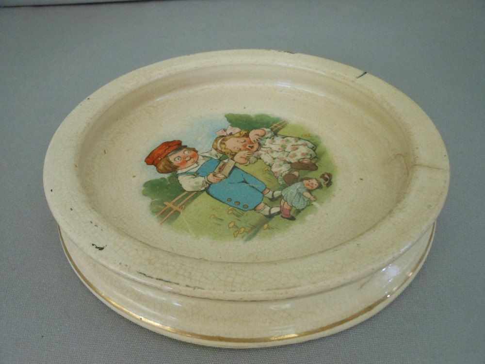 Antique Buffalo Pottery Baby Dish Campbell Soup Kids Baby Dishes Campbell Soup Baby Plates