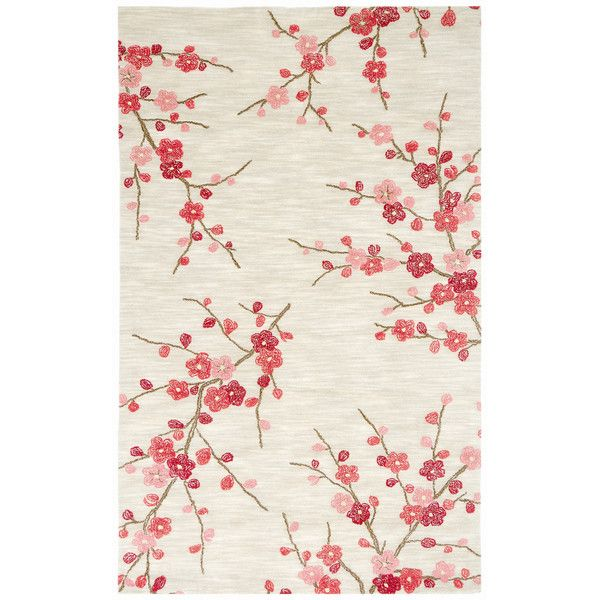 Cherry Blossom Rug With Images Red