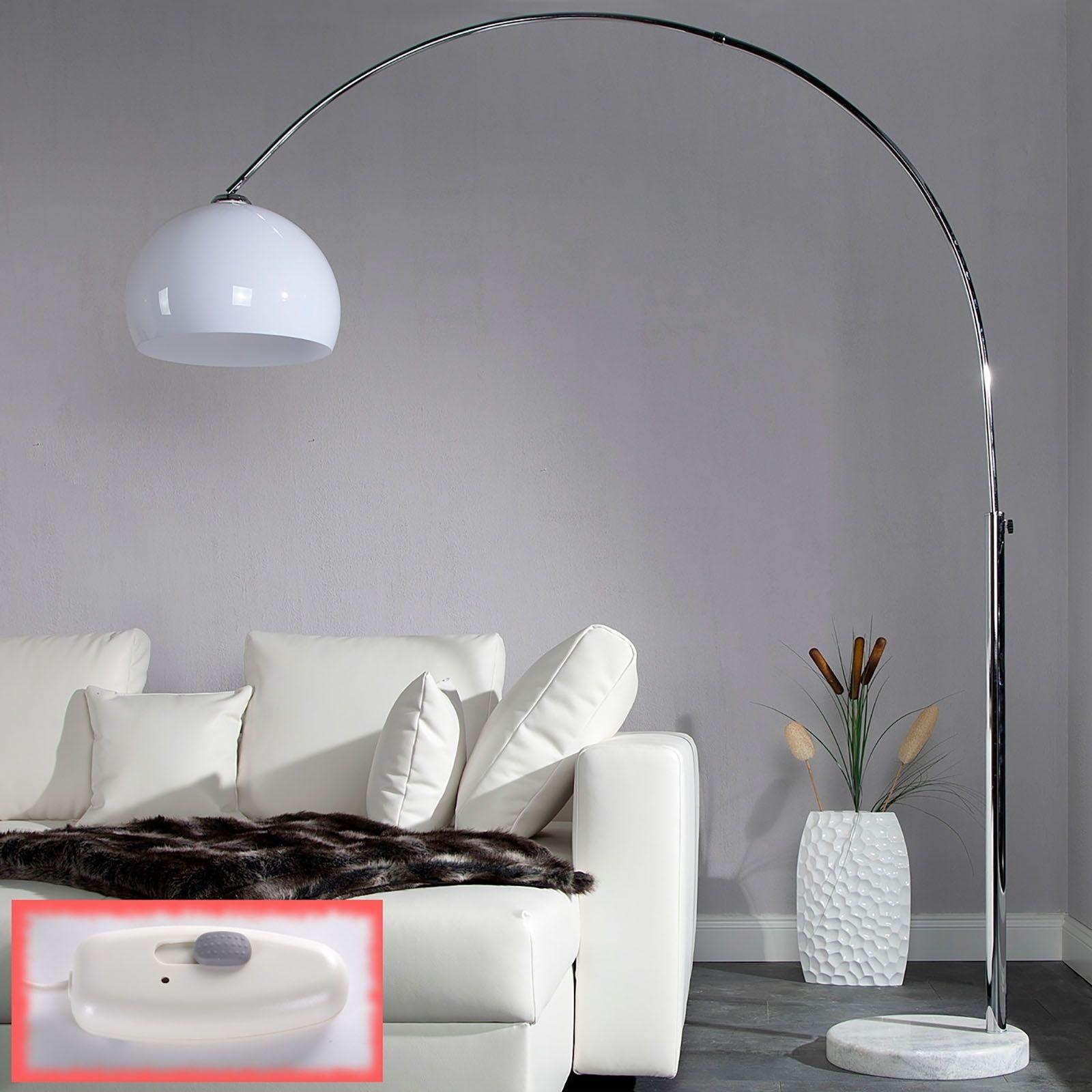 riesige designer bogenlampe big arc pro stehlampe dimmbar mit dimmer wei. Black Bedroom Furniture Sets. Home Design Ideas
