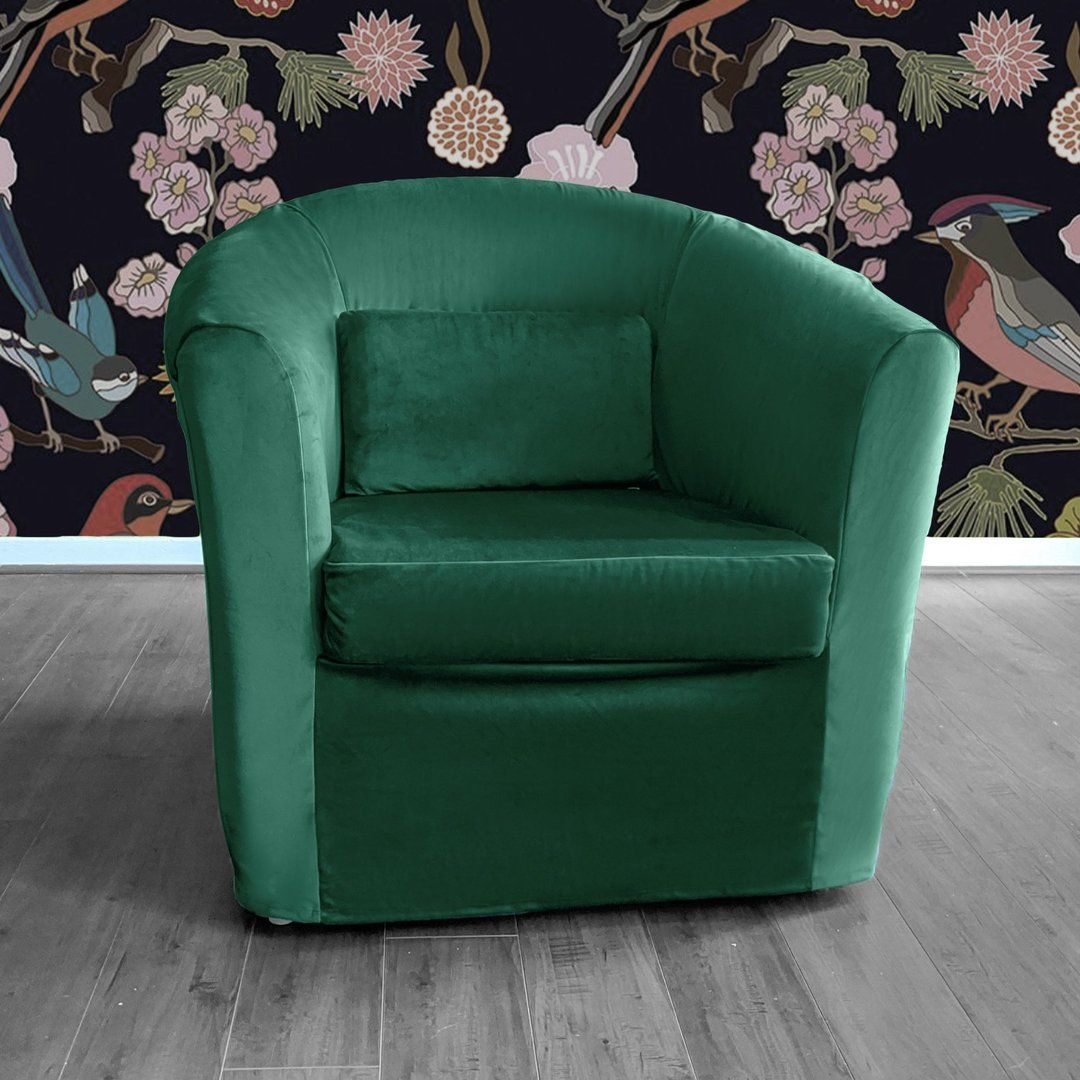 Dark green velvet ikea tullsta chair cover in 2020 chair