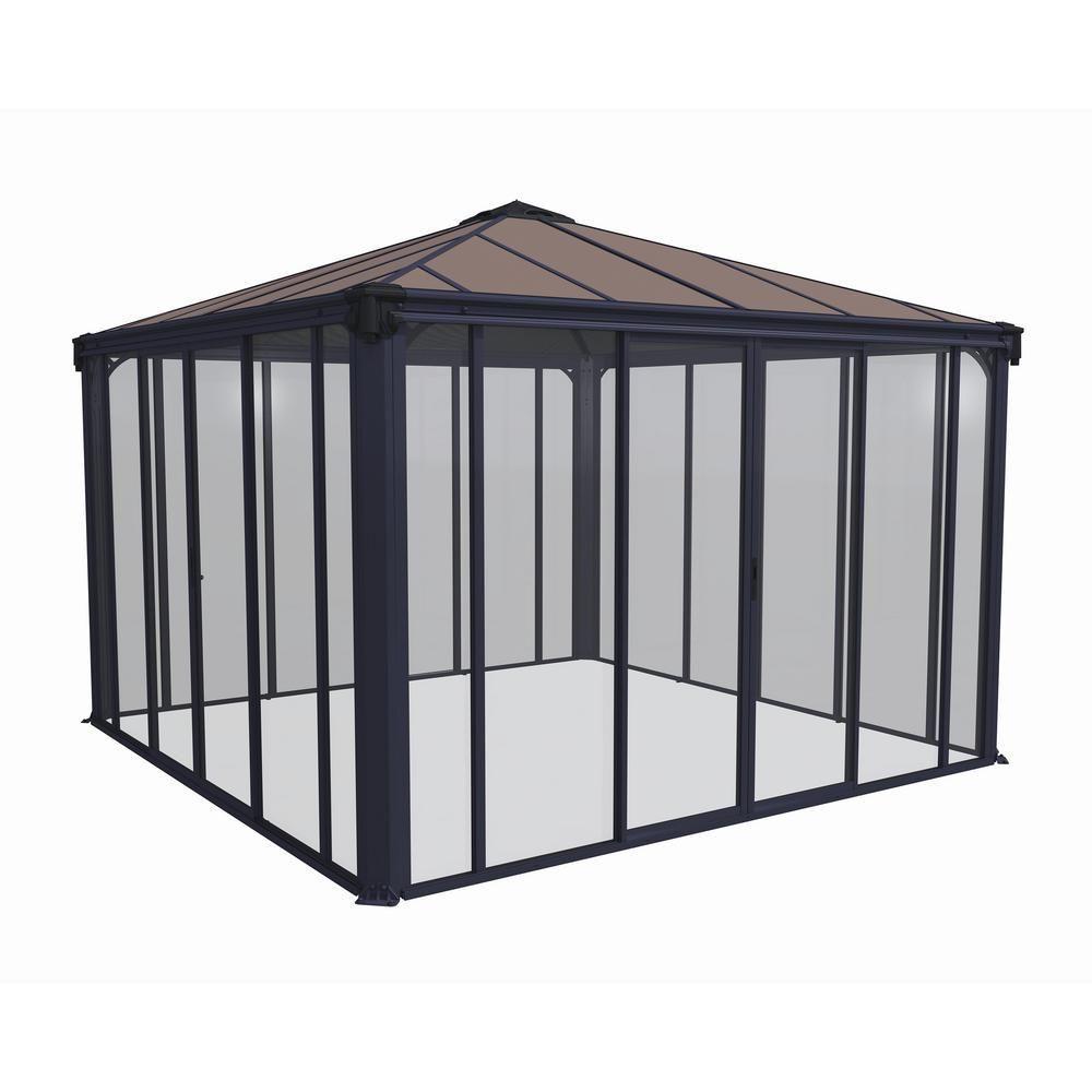 Palram Ledro 3600 12 ft. x 12 ft. Enclosed Gazebo and Spa Enclosure-704745 – The…