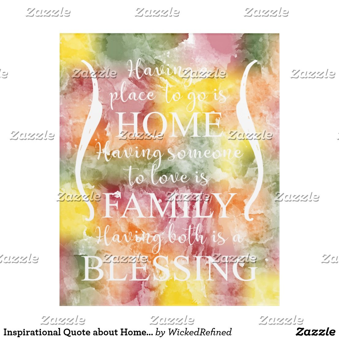 Inspirational Quote about Home - Family - Blessing Acrylic Wall Art ...