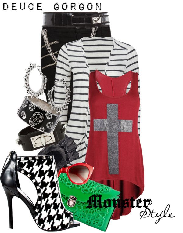 """""""Monster Style : Duece Gorgon"""" by missm26 on Polyvore"""