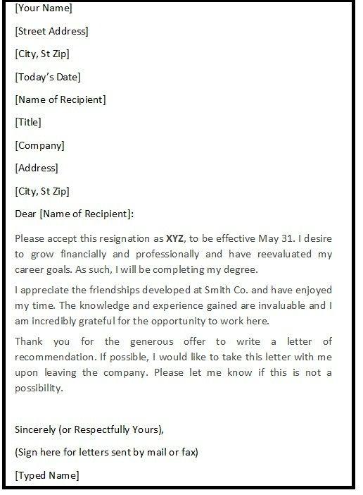 Polite Resignation Letter  BesikEightyCo