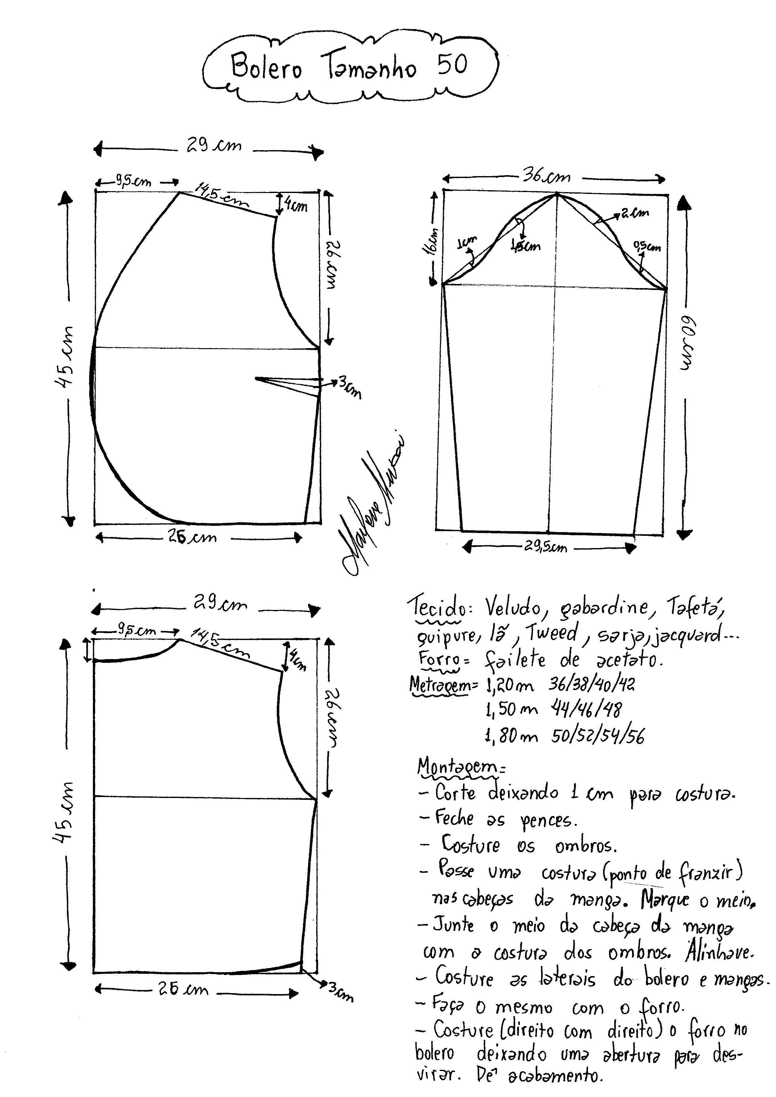 bolero-500005.jpg (2481×3507)   Patrones de Costura   Pinterest ...