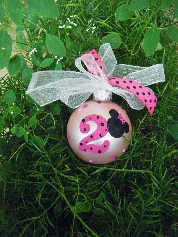 Minnie Mouse - Personalized Disney Birthday Ornament ...