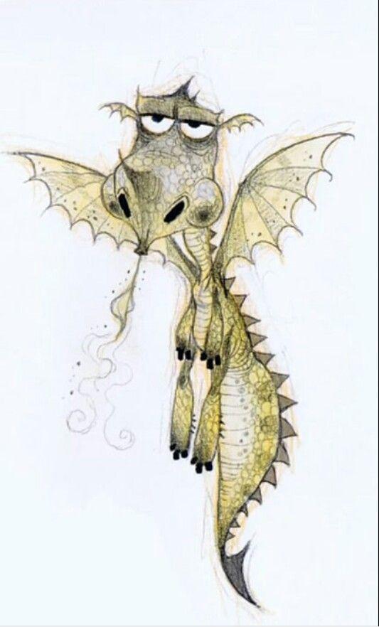 Днем рождения, рисунки смешных драконов