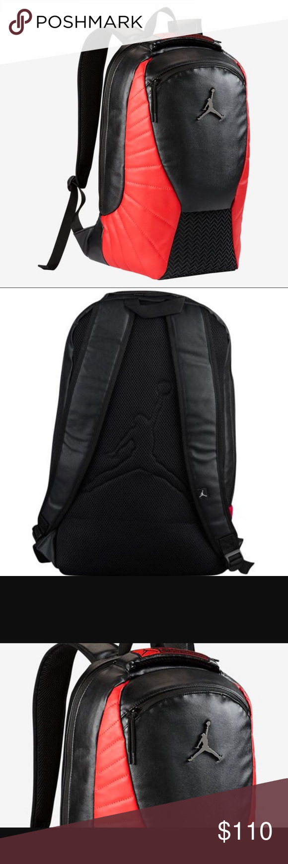 ab3c90083686 Air Jordan 12 Flu Game Bred Backpack Laptop Bag Brand   Air Jordan Color    Black