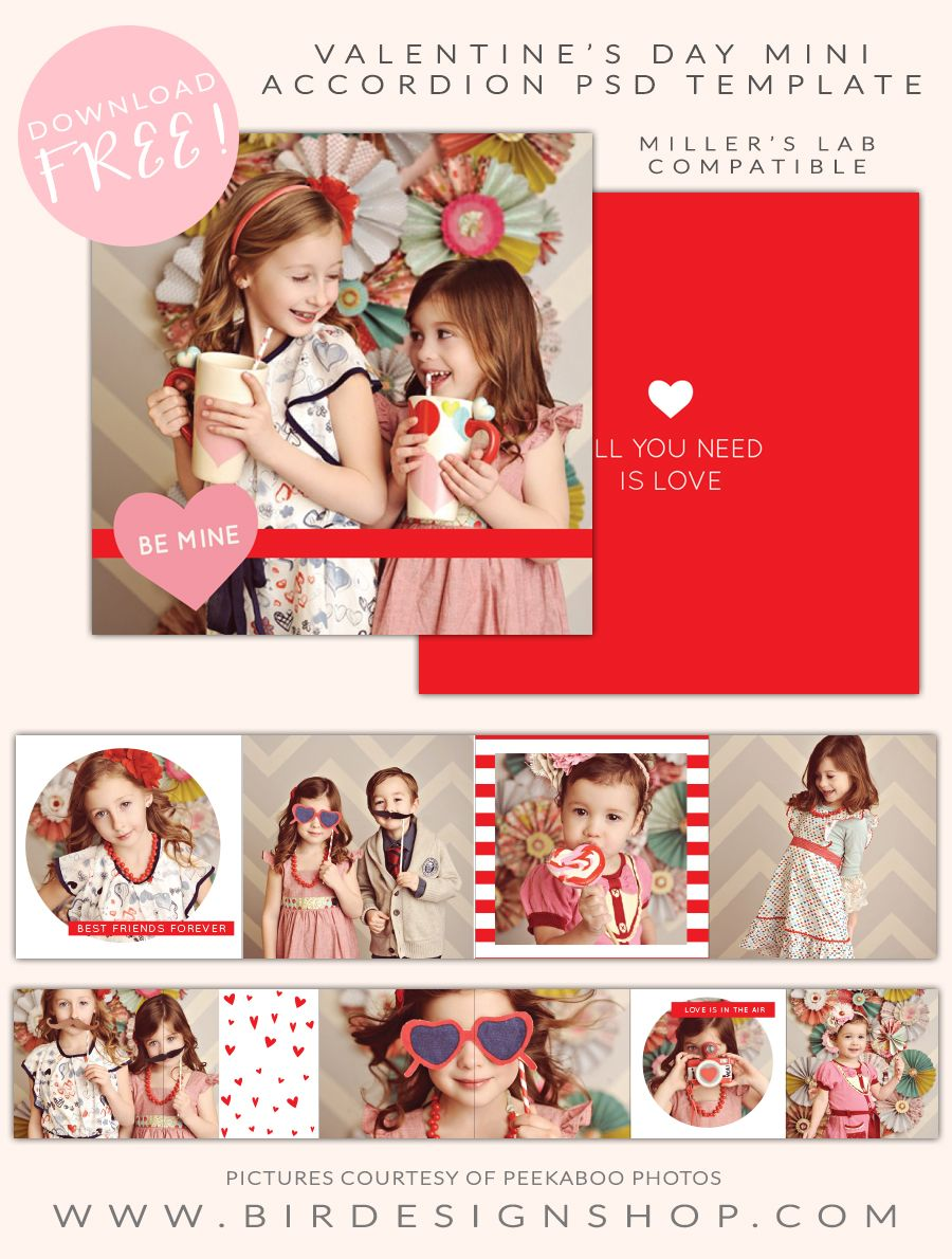 Free Valentine S Day Mini Accordion Blog Photoshop Valentine Mini Session Photography Marketing