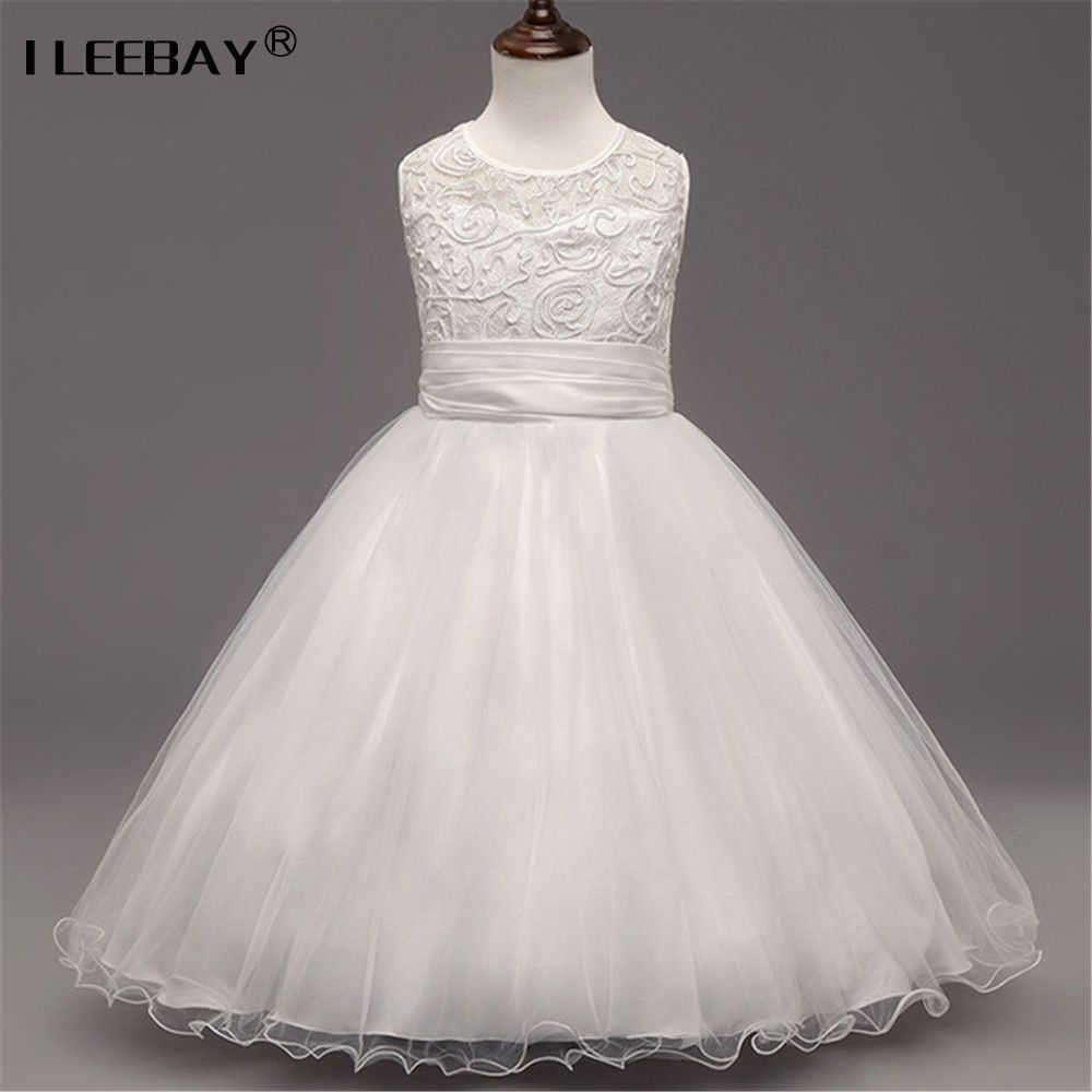 Click to buy ucuc new girls dress bow kids dresses for teenager