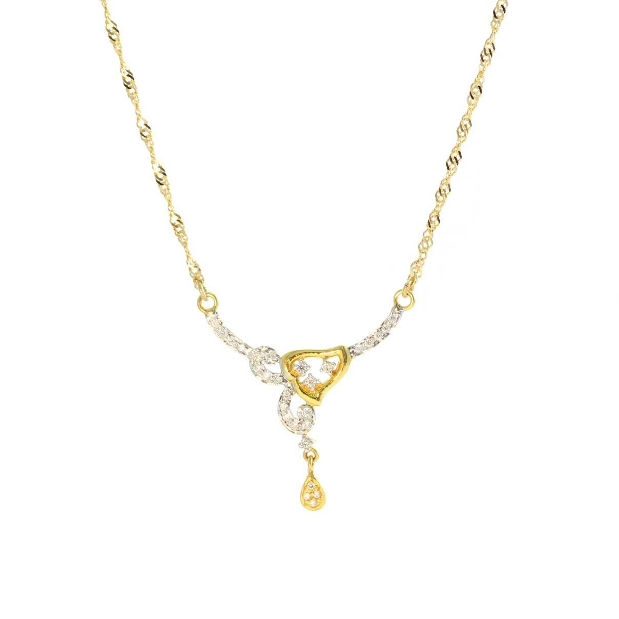 Chain with fixed pendant detail made in 22 carat gold chain chain with fixed pendant detail made in 22 carat gold chain aloadofball Images