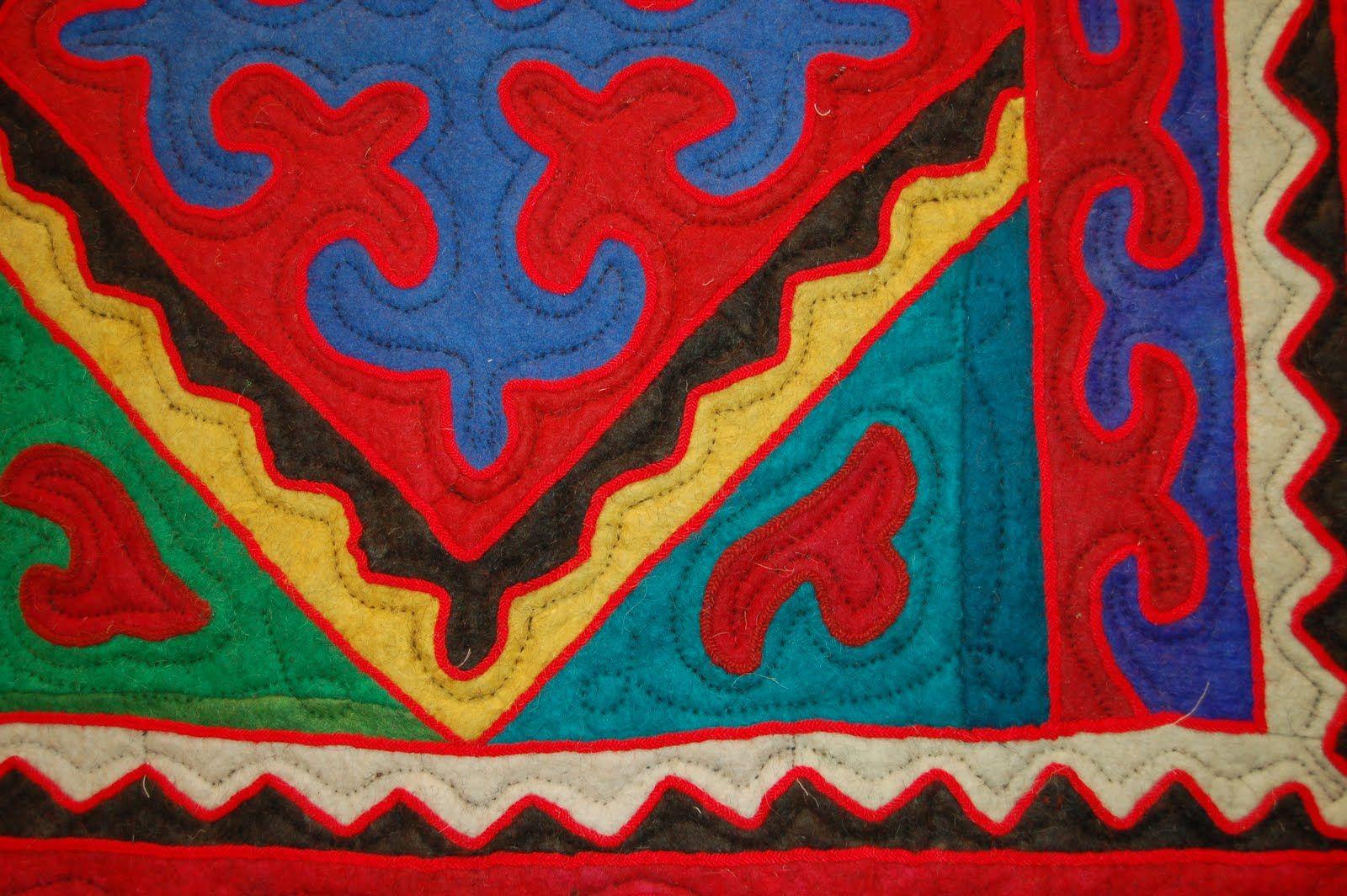 ... rug we stumbled across this beautiful Shyrdak Felt Rug on Unique Rugs