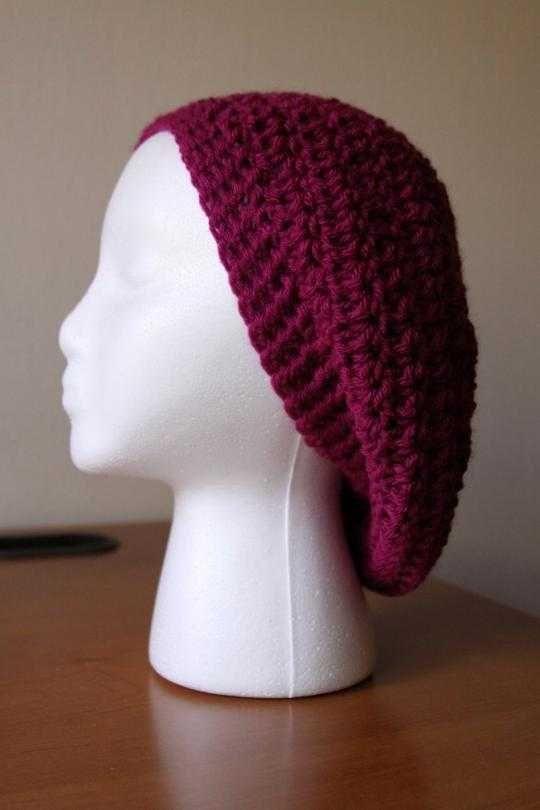 Easy Crochet Slouchy Beret | Clare | Pinterest | Mütze, Kostenlose ...