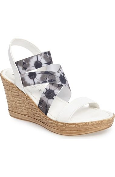 156d63c0ae01 TUSCANY by Easy Street® Felisa Wedge Sandal (Women) available at  Nordstrom