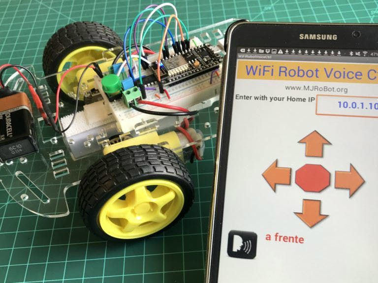 WiFi Voice Controlled Robot With NodeMCU | Arduino | Robot