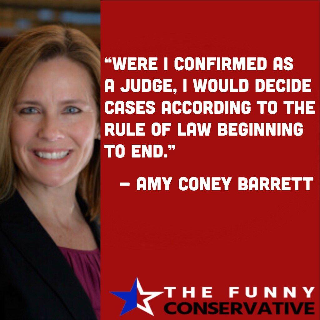 Amy Coney Barrett Thefunnyconservative She Quotes Amy Barrett