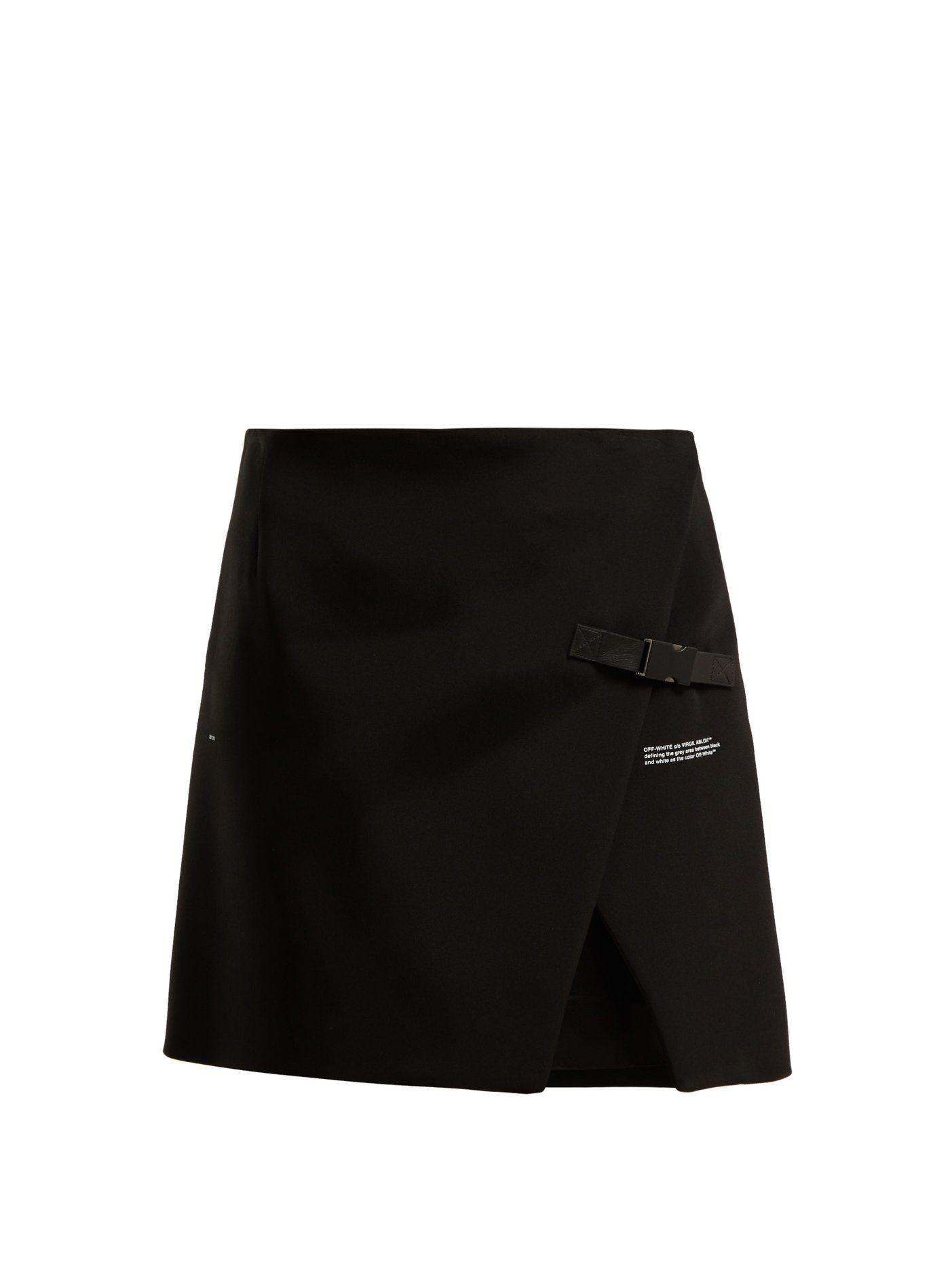 1acae31a21 Logo-print wrap mini skirt | Off-White | MATCHESFASHION.COM | Skirts ...