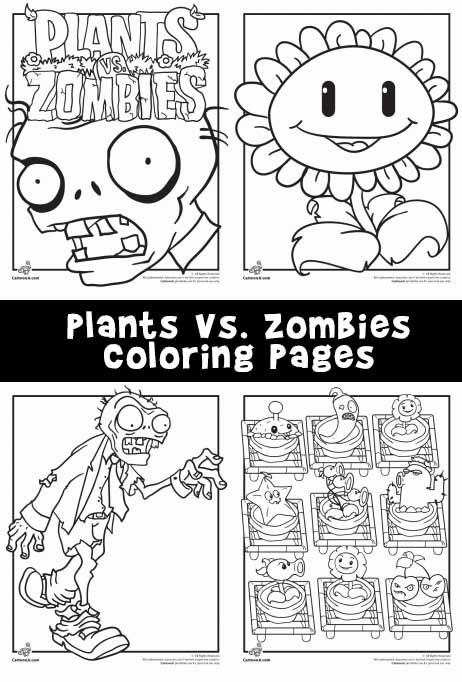 Plants Vs. Zombies Coloring Pages   Plants vs zombies and Project ideas