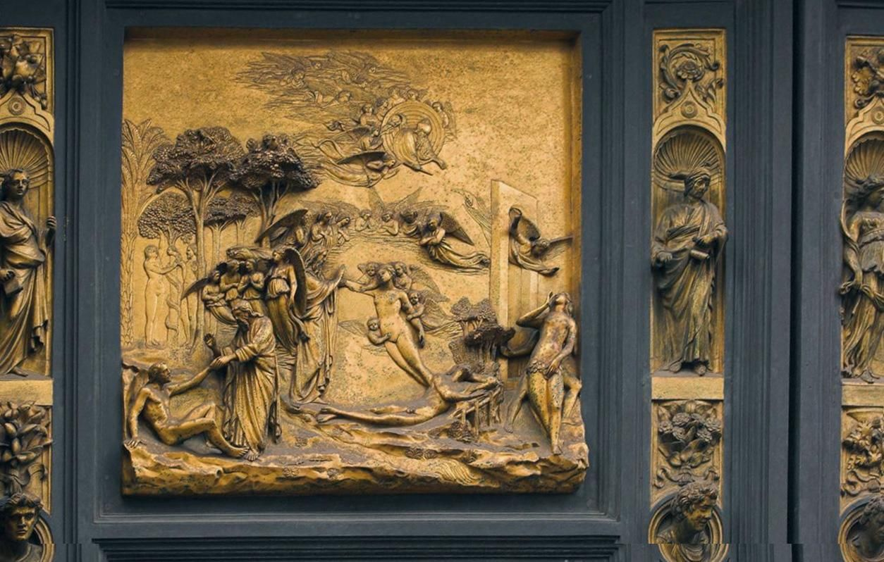 Fig.7.6 Lorenzo Ghiberti The Story of Adam and Eve from the Gates & Fig.7.6 Lorenzo Ghiberti The Story of Adam and Eve from the ... Pezcame.Com