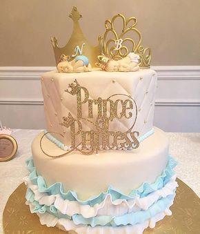 Gender Reveal Prince or Princess Topper by PaperandPop on Etsy https://www.etsy.com/listing/451417372/gender-reveal-prince-or-princess-topper