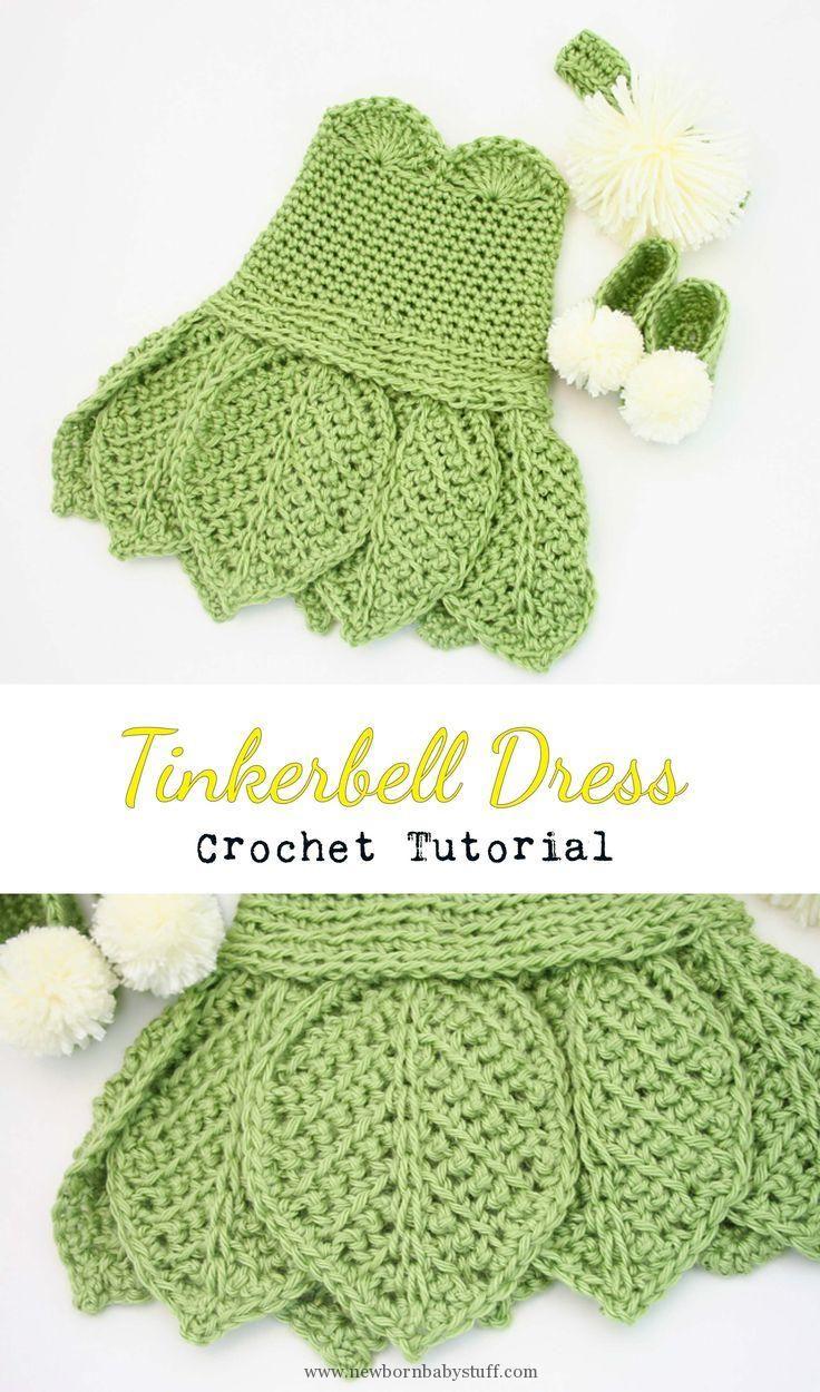 Baby Knitting Patterns Crochet Tinkerbell Dress...   Baby Knitting ...