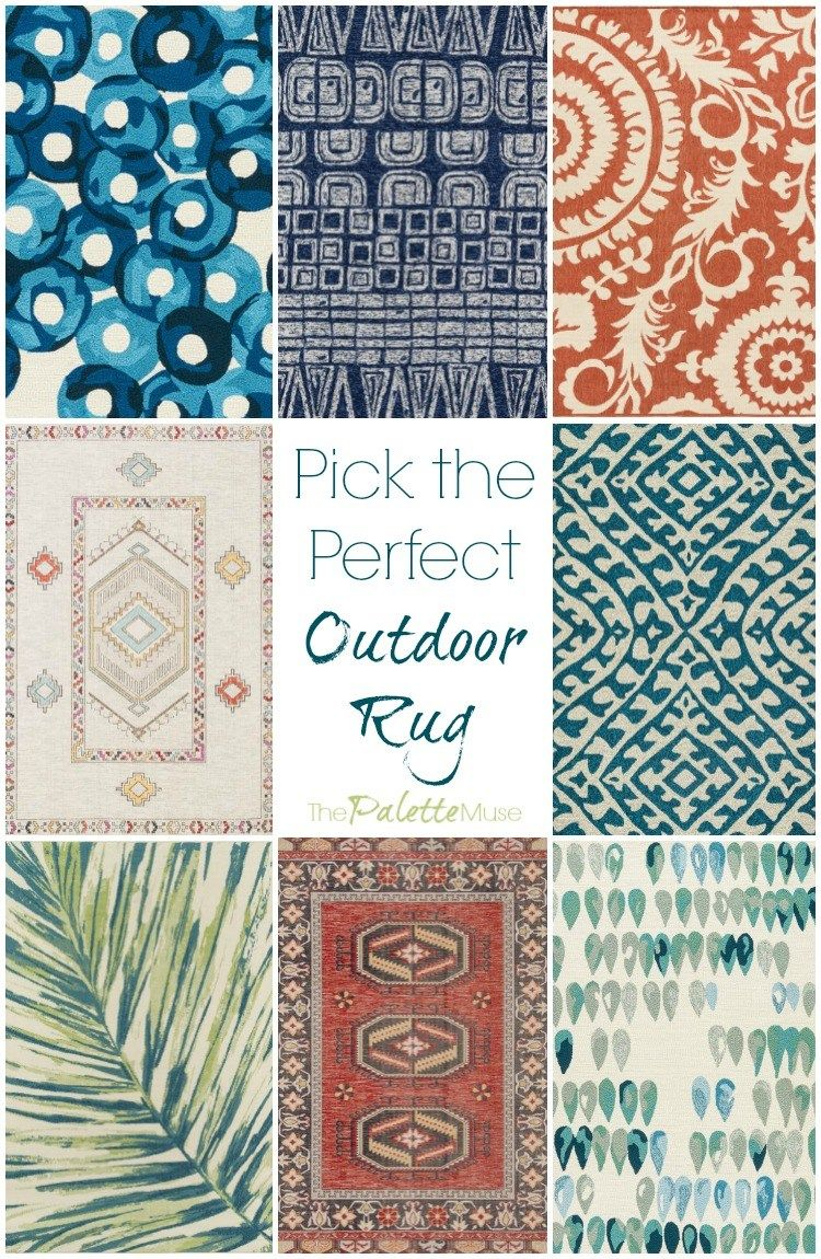 Bring the Indoors Out with an Outdoor Rug #outdoorrugs