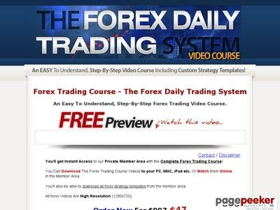 Forex Trading Course The Forex Daily Trading System Trading