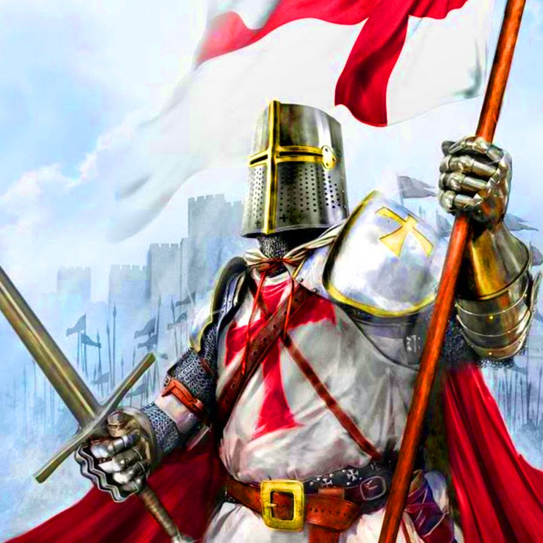 Crusader is a knight who fights against infidels