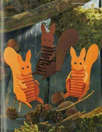 Eekhoorntjes maken met papier
