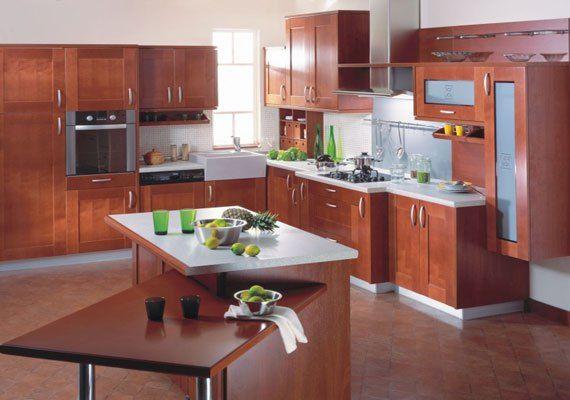 images gallery dark brown cherry kitchen cabinets kitchen ...