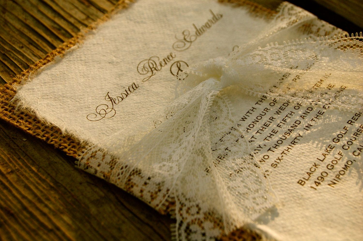 17 Best images about Wedding invitations – Rustic Lace Wedding Invitations