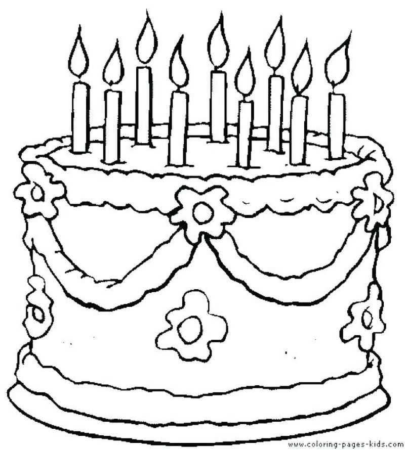Birthday Cake Coloring Pages PDF To Print - Free Coloring Sheets Happy Birthday  Coloring Pages, Birthday Coloring Pages, Free Printable Coloring Sheets