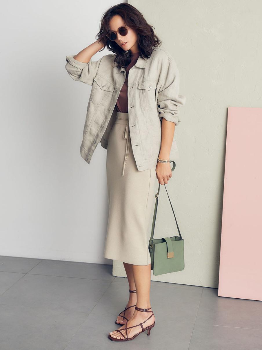 リネンgジャン デニムジャケット アウター mila owen ミラオーウェン の通販サイト 公式 ファッションアイデア ロングtシャツ ミラオーウェン