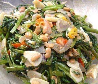 Resep Cah Kangkung Tauco Stir Fried Morning Glory With Tauco I Usually Make The Chinese Indonesian Version Makan Malam Kangkung Makanan