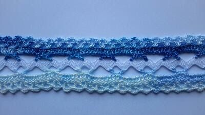 Ric Rac with Double Sided Crochet Edges • chart for the crochet is provided.